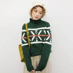Tulander - Patterned High Neck Sweater