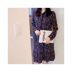 MASoeur - Ruffle-Hem Floral Print Dress