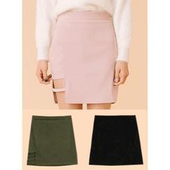 icecream12 - Cutout-Hem Mini Pencil Skirt