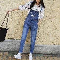 Hazie - Embroidered Dungaree