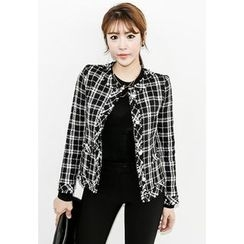 INSTYLEFIT - Single-Button Check Jacket