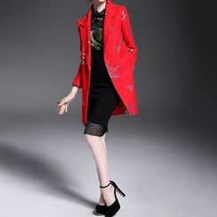 Alaroo - Embroidered Wool Blend Coat