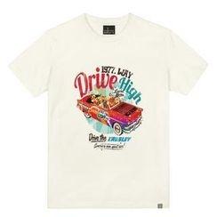 the shirts - 'Drive High' Car Print T-Shirt