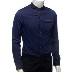 YesStyle M - Contrast Trim Shirt