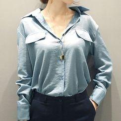 NANING9 - Flap-Front Shirt