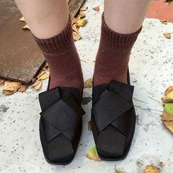 HALOLALA - 結式平跟鞋