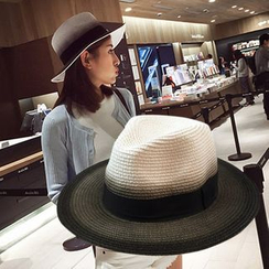SHUMI - Burnished Straw Fedora Hat