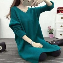 Emeline - V-Neck Long Sweater