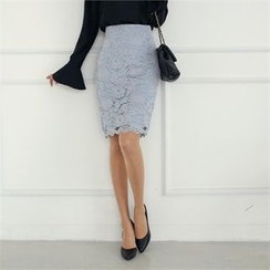 Styleberry - Lace Pencil Skirt