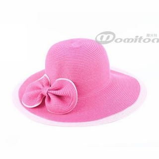 Momiton - Bow-Accent Straw Hat