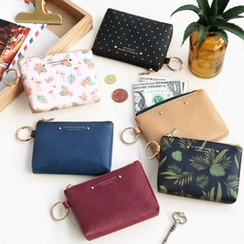 Full House - Iconic - Faux-Leather Coin Purse With Key Ring