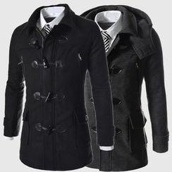 百高 - 牛角扣針織外套