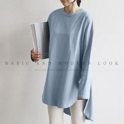 NANING9 - Dip-Back Long T-Shirt