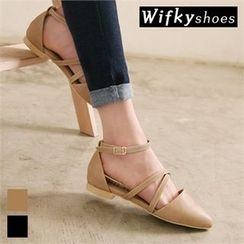 Wifky - Pointy-Toe Ankle-Strap Flats
