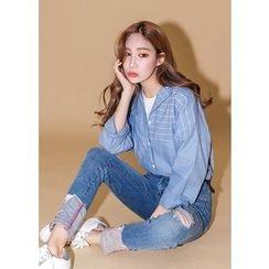 J-ANN - Striped Linen Shirt