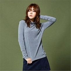 MAGJAY - Mock-Neck Long-Sleeve Top