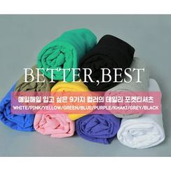 HOTPING - 3/4-Sleeve Colored T-Shirt