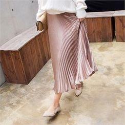 Babi n Pumkin - Banded-Waist Pleated Skirt
