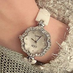 Nanazi Jewelry - Austrian Crystal Flower Bracelet Watch