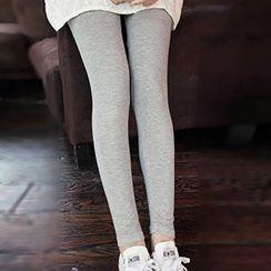 Dia Monde - Plain Leggings / Fleece-Lined Leggings