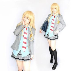 Ghost Cos Wigs - Uniform Cosplay Costume - Your Lie In April Miyazono Kaori