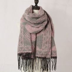Ms Bean - Fringed Knit Scarf