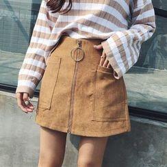 Rollis - 前拉鏈裙褲