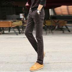 Leewiart - Corduroy Straight-Leg Pants