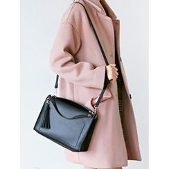 FROMBEGINNING - Faux-Leather Tassel-Detail Shoulder Bag