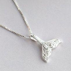 Blinglitz - Fish Tail Pendant Necklace