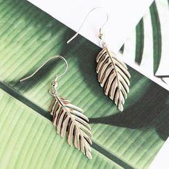 Blinglitz - Leaf Single Drop Earring