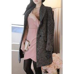 MyFiona - Wool Blend Melange Coat