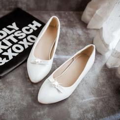 锦洋鞋业 - 仿珍珠内增高平跟鞋