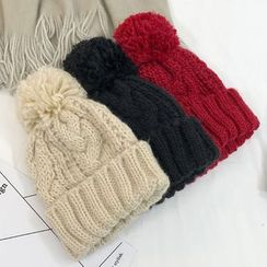 Ordinario - Pompom-Accent Beanie