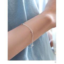 PINKROCKET - Flower-Detail Chain Bracelet