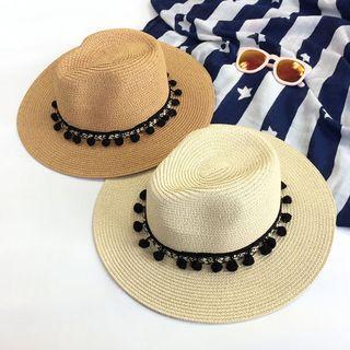 Pompabee - Pom Pom Straw Hat
