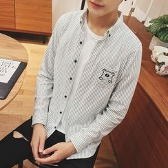 Edway - Pinstripe Long-Sleeve Shirt