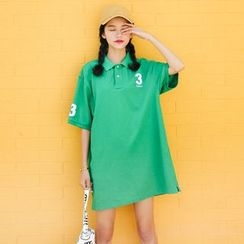 Porta - Sports Number Short-Sleeve Polo Dress