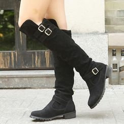 Mancienne - Buckled Long Boots