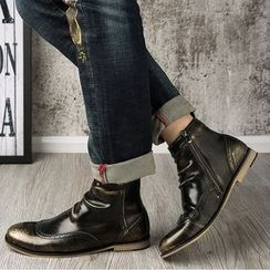 SHEN GAO - 翼紋漸變踝靴