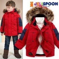 JELISPOON - Kids Faux-Fur Hooded Padded Parka
