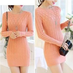 Sienne - Round-Neck Long Sweater
