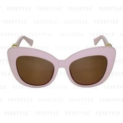 Glam-it! - Kitten Sunglasses (Baby Pink Frame, Gold Logo, Brown Gradient Lens)