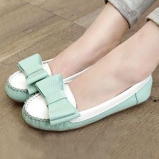 Lane172 - Bow-Accent Two-Tone Flats