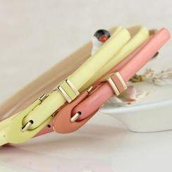 Charm n Style - Patent Slim Belt