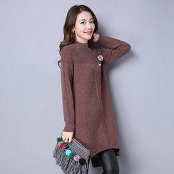 Romantica - Slit-Back Knit Dress