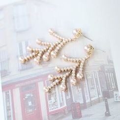 Bmuse - Faux Pearl Earrings