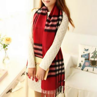 RGLT Scarves - Fringed Plaid Cashmere Scarf