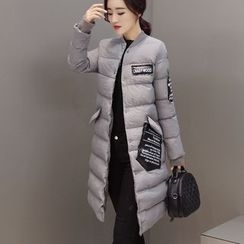 Romantica - Applique Buttoned Padded Coat