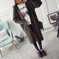 Qimi - Cable-Knit Long Cardigan